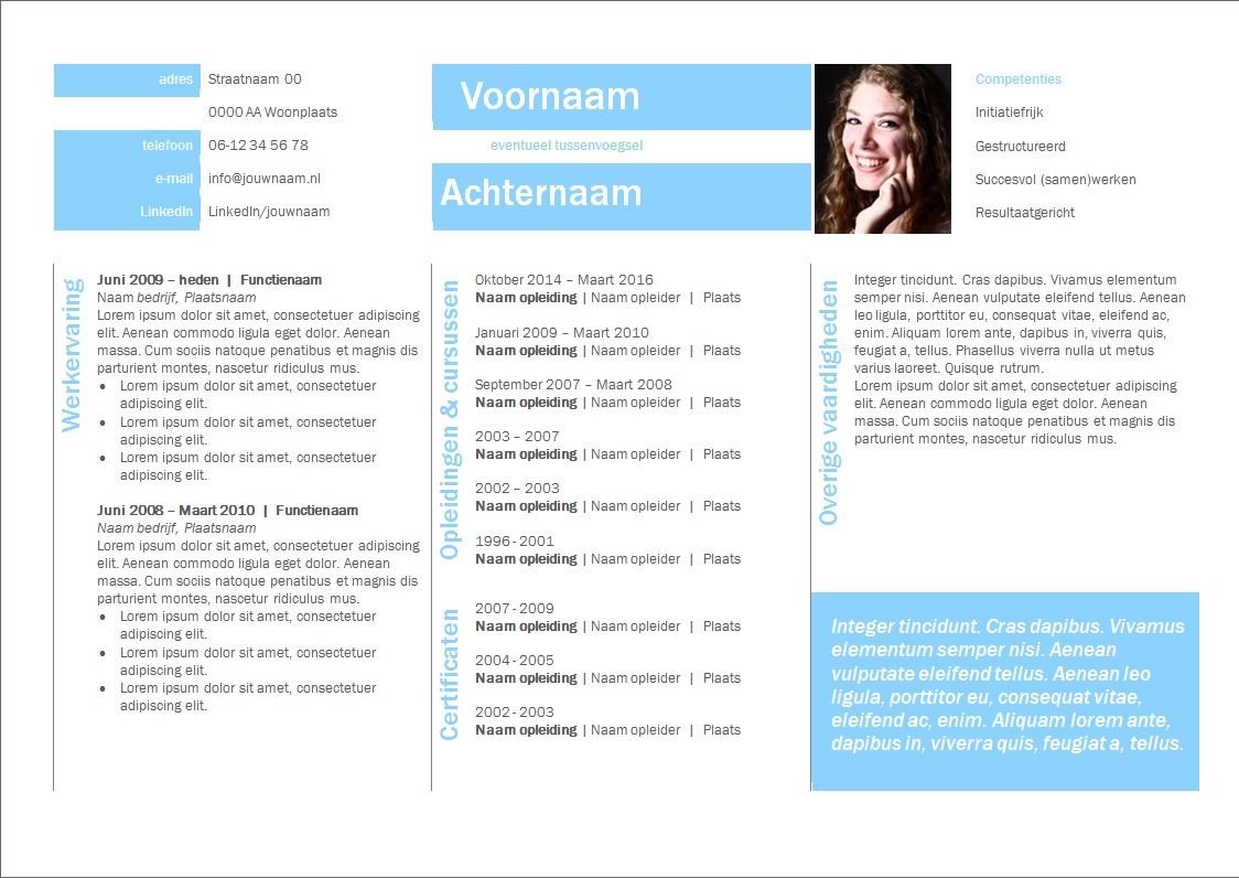 Curriculum vitae voorbeeld accountmanager