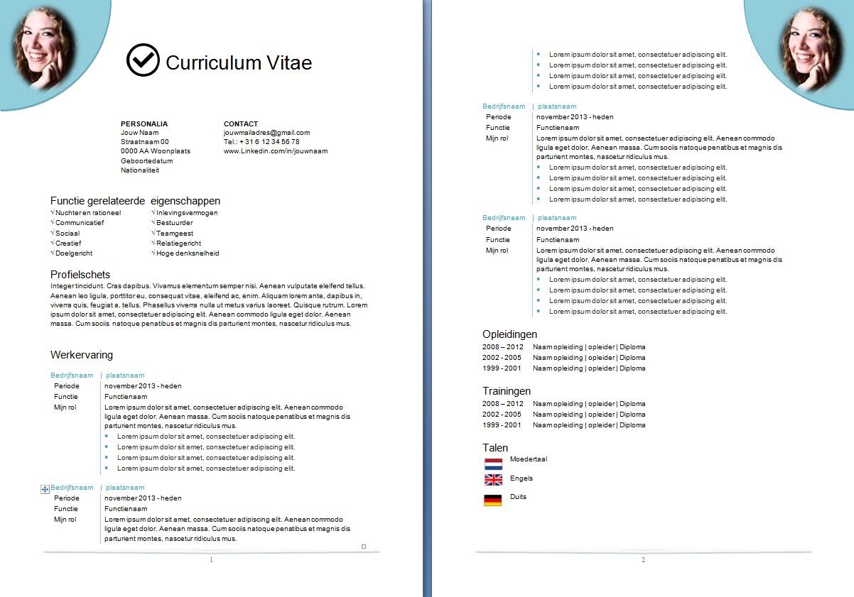 Kies je layout   CV opmaat